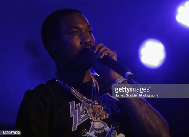 Musician Robert Rihmeek Williams AKA Meek Mill performs onstage at the Atlantic Records event during 2017 SXSW Conference and Festivals at Stubbs on...