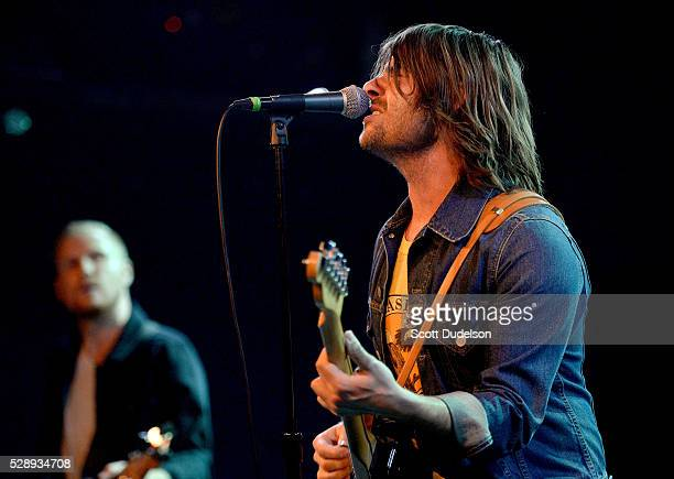 Musician Robert Schwartzman of the band Rooney performs onstage during the release party for Rooney's new album Washed Away at Teragram Ballroom on...