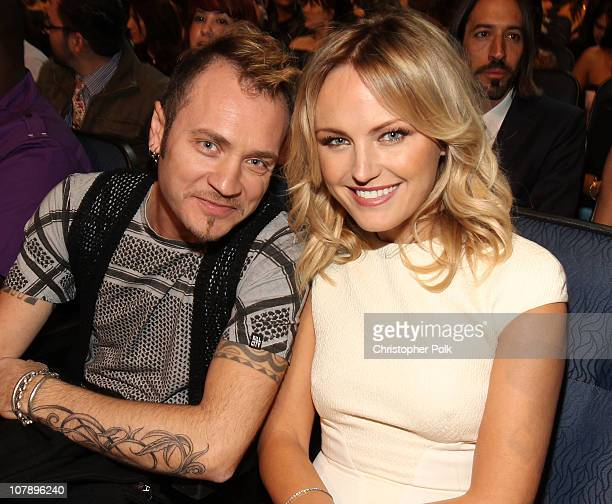 Musician Roberto Zincone and actress Malin Akerman attend the 2011 People's Choice Awards at Nokia Theatre LA Live on January 5 2011 in Los Angeles...