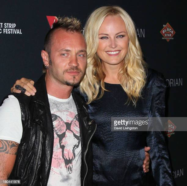 Musician Roberto Zincone and wife/actress Malin Akerman attend the 5th Annual Sunset Strip Music Festival's official VIP party hosted by Virgin...