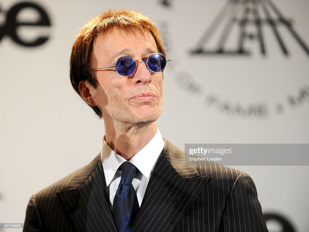 Musician Robin Gibb of The Bee Gees attend the 25th Annual Rock And Roll Hall of Fame Induction Ceremony at the Waldorf=Astoria on March 15, 2010 in New York City.
