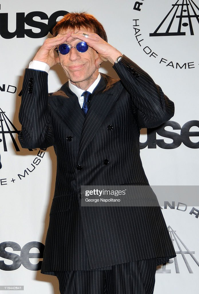 Musician Robin Gibb of the Bee Gees attends the 25th Annual Rock And Roll Hall Of Fame Induction Ceremony at the Waldorf=Astoria on March 15, 2010 in New York City.