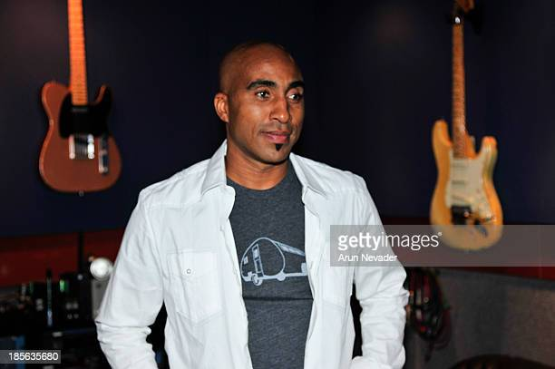 Musician Robin Lyle attends the Kaylene Peoples My Man CD recording session featuring Bobby Lyle on October 22 2013 at the Mouse House Studio in...