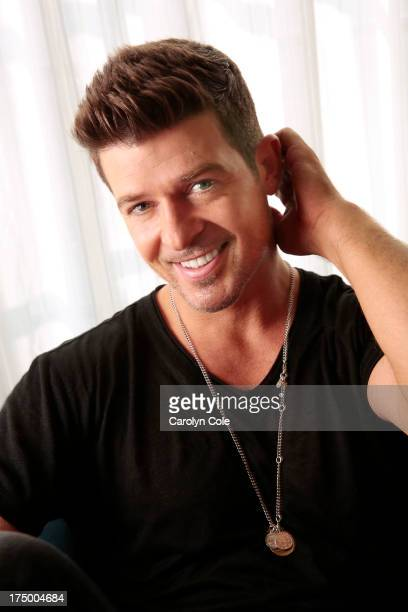Musician Robin Thicke is photographed for Los Angeles Times on July 18 2013 in New York City PUBLISHED IMAGE CREDIT MUST BE Carolyn Cole/Los Angeles...