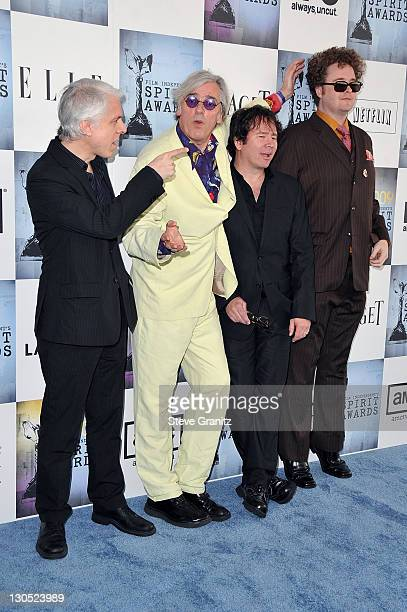 Musician Robyn Hitchcock and band Bill Rieflin GrantLee Phillips and Sean Nelson arrive at Film Independent's 2009 Independent Spirit Awards held at...