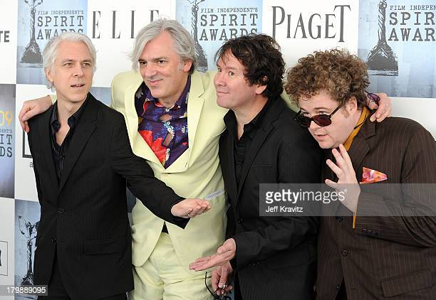Musician Robyn Hitchcock and band Bill Rieflin GrantLee Phillips and Sean Nelson arrive at the 2009 Film Independent Spirit Awards held at the Santa...