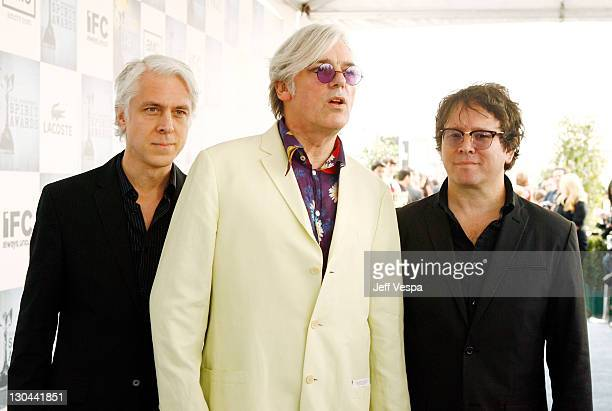 Musician Robyn Hitchcock and band members Bill Rieflin and GrantLee Phillips arrive at Film Independent's 2009 Independent Spirit Awards held at the...
