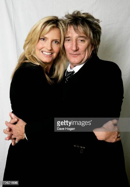 Musician Rod Stewart and his partner Penny Lancaster pose for a portrait at Langham Hotel on October 31 2006 in London England Rod's new album '...