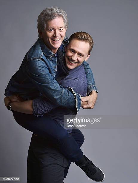 Musician Rodney Crowell and actor Tom Hiddleston pose for a portrait at the I Saw The Light press day on October 17 2015 in Nashville Tennessee