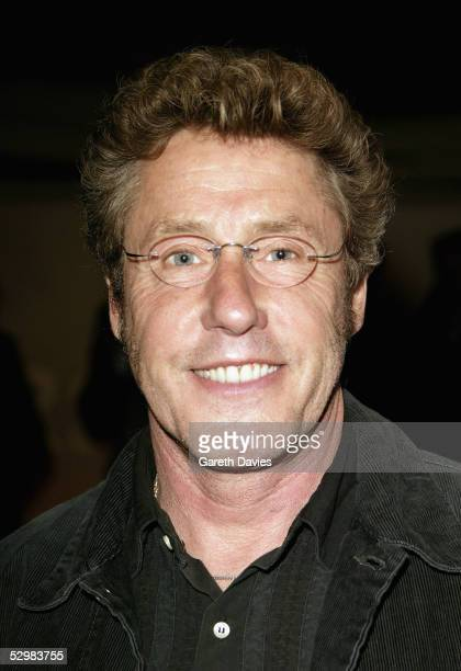 Musician Roger Daltrey arrives at the 50th Ivor Novello Awards at Grosvenor House on May 26 2005 in London The music awards honour songwriters...