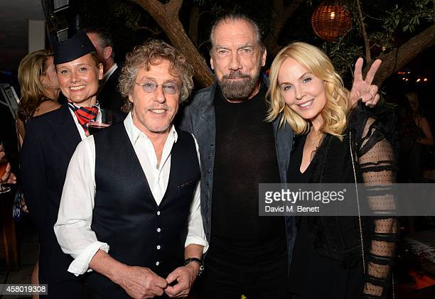 Musician Roger Daltrey John Paul DeJoria and Eloise Broady attend the Teen Cancer America Fundraiser hosted by Darren Strowger Roger Daltrey and...