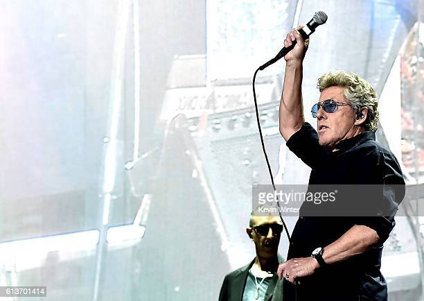 Musician Roger Daltrey of The Who during Desert Trip at the Empire Polo Field on October 9 2016 in Indio California