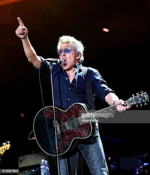 Musician Roger Daltrey of The Who perform during Desert Trip at the Empire Polo Field on October 16 2016 in Indio California