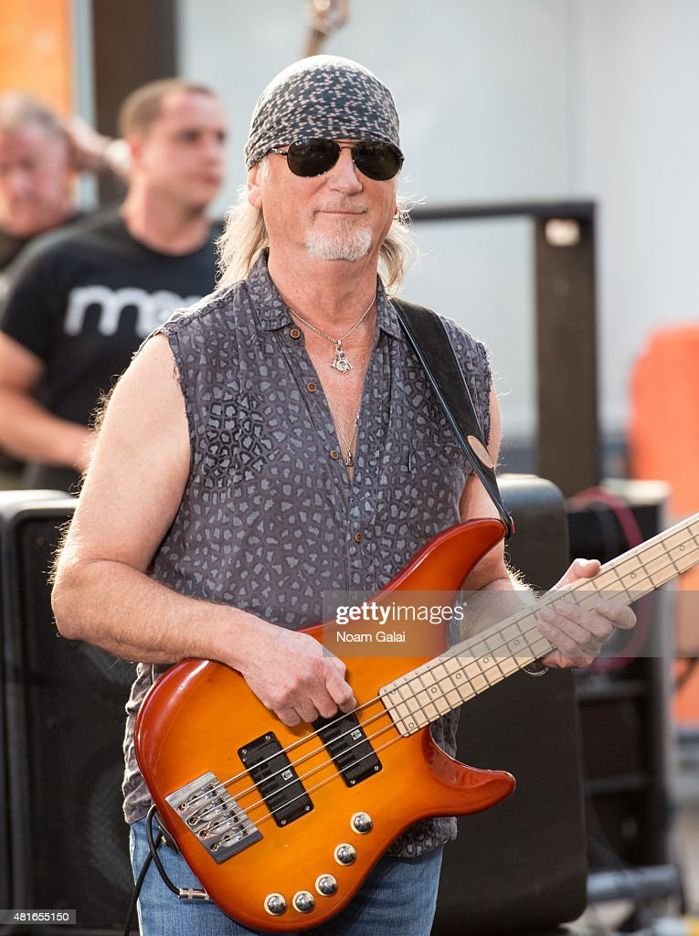Musician Roger Glover of Deep Purple performs on NBC's 'Today' at Rockefeller Plaza on July 23, 2015 in New York City.