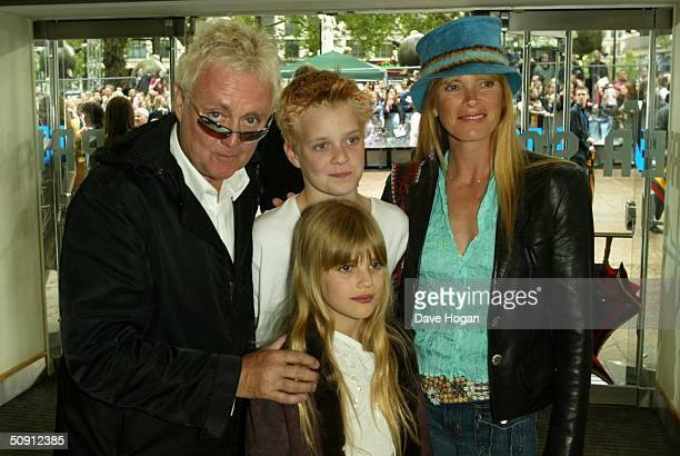 Musician Roger Taylor of Queen wife Deborah Leng and children Tiger Lily Taylor and Rufus Taylor attend the UK Premiere of Harry Potter And The...