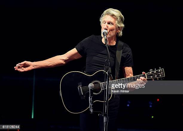 Musician Roger Waters performs during Desert Trip at the Empire Polo Field on October 16 2016 in Indio California