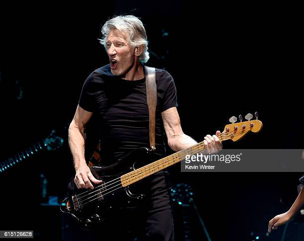 Musician Roger Waters performs during Desert Trip at the Empire Polo Field on October 16, 2016 in Indio, California.