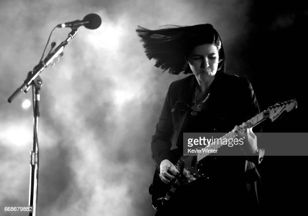 Musician Romy Madley Croft of The xx performs on the Coachella Stage during day 1 of the Coachella Valley Music And Arts Festival at the Empire Polo...