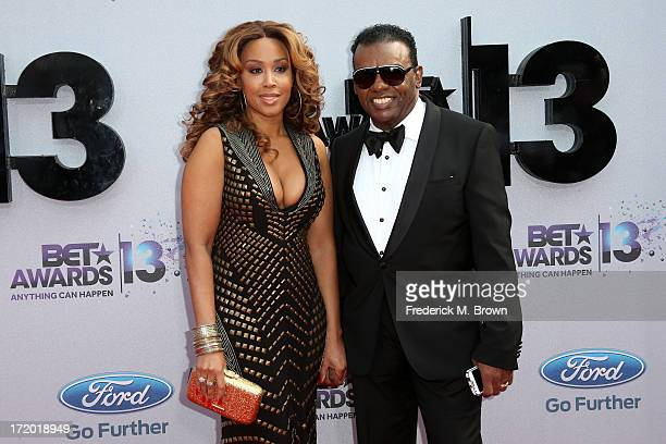 Musician Ronald Isley and Kandy Isley attend the 2013 BET Awards at Nokia Theatre LA Live on June 30 2013 in Los Angeles California