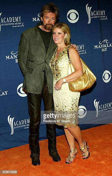 Musician Ronnie Dunn and his wife Janine arrive at the 40th Annual Academy Country Music Awards at Mandalay Bay Resort Casino on May 17 2005 in Las...