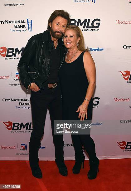 Musician Ronnie Dunn of Brooks and Dunn and Janine Dunn attend as Big Machine Label Group celebrates The 49th Annual CMA Awards at Rosewall on...