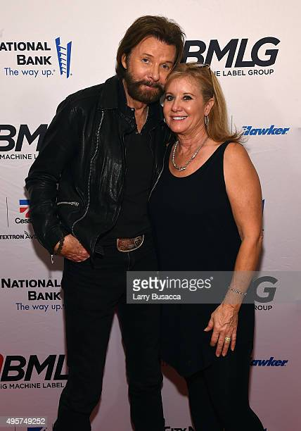 Musician Ronnie Dunn of Brooks and Dunn and Janine Dunn attends as Big Machine Label Group celebrates The 49th Annual CMA Awards at Rosewall on...