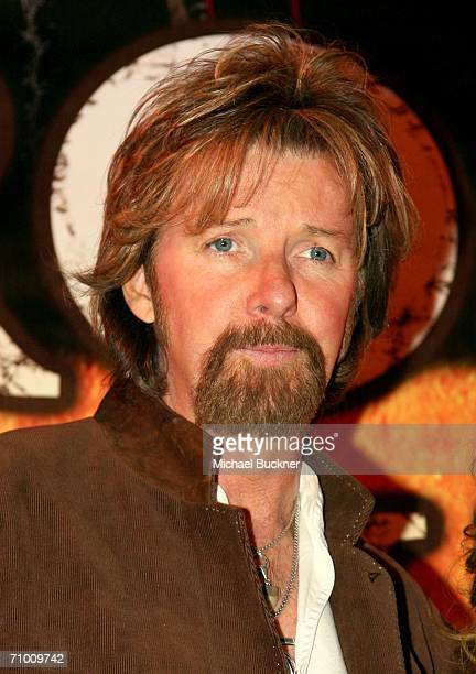 Musician Ronnie Dunn of the band Brooks Dunn speaks during the press conference announcing the signing of Brooks Dunn to perform multiyear...