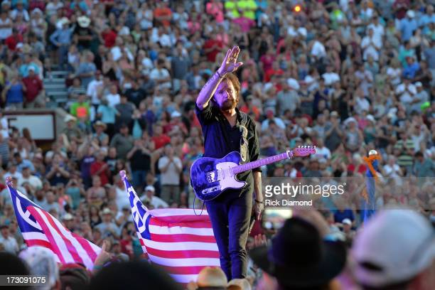 Musician Ronnie Dunn performs during the Oklahoma Twister Relief Concert to benefit United Way of Central Oklahoma May Tornadoes Relief Fund at...