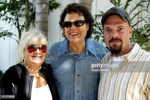 Musician Ronnie Milsap his wife Joyce and son Todd attend rehearsals for the Ray Charles tribute evening held at the Beverly Hilton Hotel September...