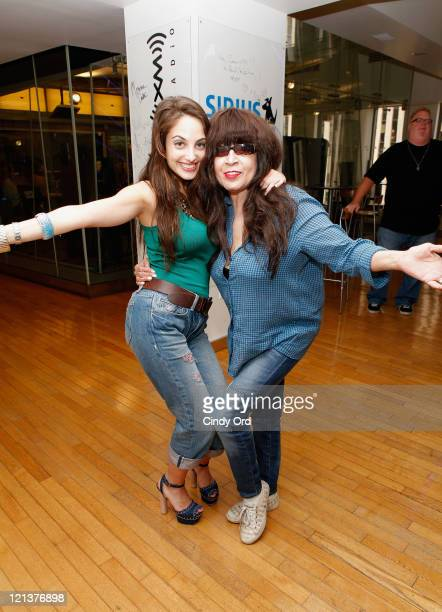 """Musician Ronnie Spector the inspiration for Billy Joel's """"Say Goodbye to Hollywood"""" and Joel's musician daughter Alexa Ray Joel perform an impromptu..."""