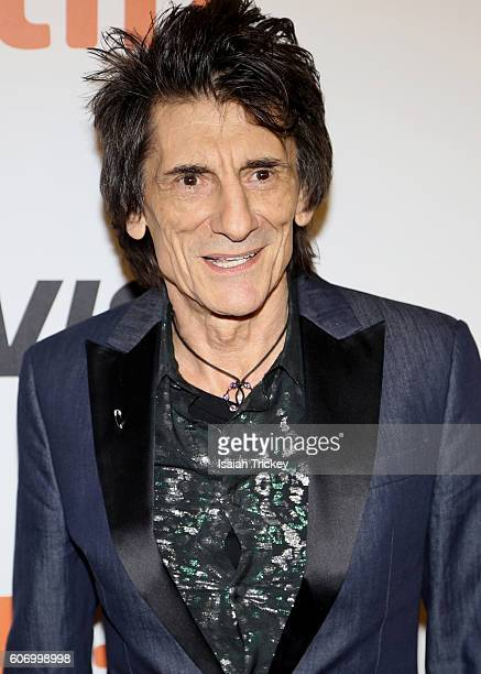 Musician Ronnie Wood attends 'The Rolling Stones Ole Ole Ole A Trip Across Latin America' Premiere during the 2016 Toronto International Film...