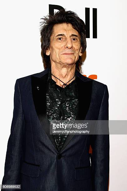 Musician Ronnie Wood attends the The Rolling Stones Ole Ole Ole A Trip Across Latin America premiere held at Roy Thomson Hall during the Toronto...