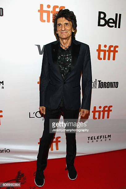 """Musician Ronnie Wood attends the """"The Rolling Stones Ole Ole Ole!: A Trip Across Latin America"""" premiere held at Roy Thomson Hall during the Toronto..."""