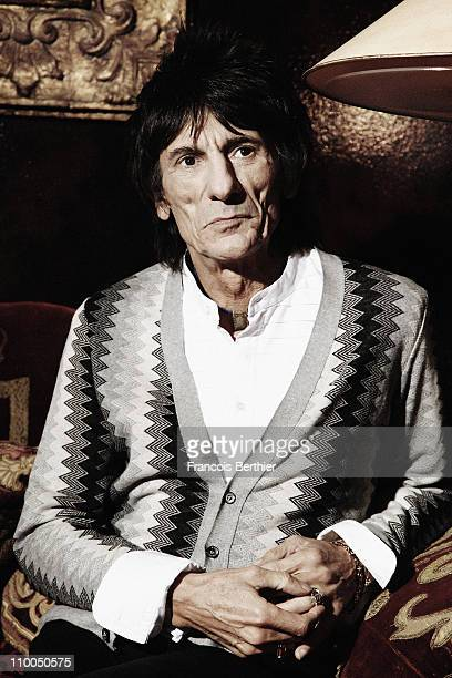 Musician Ronnie Wood poses at a portrait session in January 2011 in Paris Unpublished image