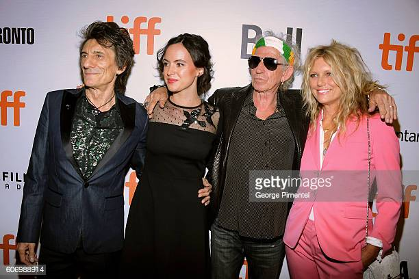 Musician Ronnie Wood wife Sally Wood musician Keith Richards and wife Patti Richards attend 'The Roling Stones Ole Ole Ole A Trip Across Latin...