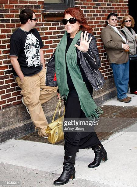 Musician Rosanne Cash visits the ''Late Show with David Letterman'' at the Ed Sullivan Theater on October 7 2009 in New York City