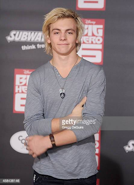 Musician Ross Lynch of R5 arrives at the Los Angeles premiere of Disney's 'Big Hero 6' at the El Capitan Theatre on November 4 2014 in Hollywood...