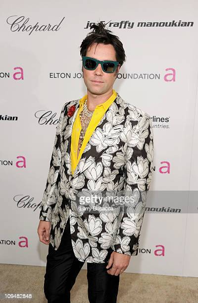 Musician Rufus Wainwright arrives at the 19th Annual Elton John AIDS Foundation Academy Awards Viewing Party at the Pacific Design Center on February...