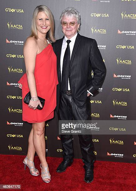 Musician Russell Hitchcock of the band Air Supply and Laurie Hitchcock arrives at the 2015 G'Day USA Gala Featuring The AACTA International Awards...