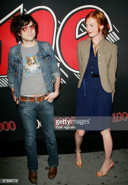 Musician Ryan Adams and date Jessica Joffe attend Rolling Stone Magazine's 1000th cover celebration May 04 2006 in New York City New York