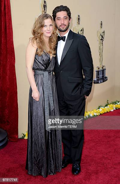 Musician Ryan Bingham and his wife Anna Axster arrive at the 82nd Annual Academy Awards held at Kodak Theatre on March 7 2010 in Hollywood California
