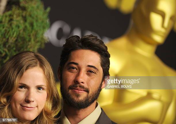 Musician Ryan Bingham and his wife Anna Axster arrive at the 82nd annual Academy Awards Nominee Luncheon at the Beverly Hilton Hotel in Beverly Hills...
