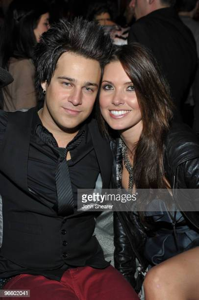 Musician Ryan Cabrera and TV Personality Audrina Patridge attend the grand opening party for Delphine restaurant at W Hollywood Hotel Residences on...