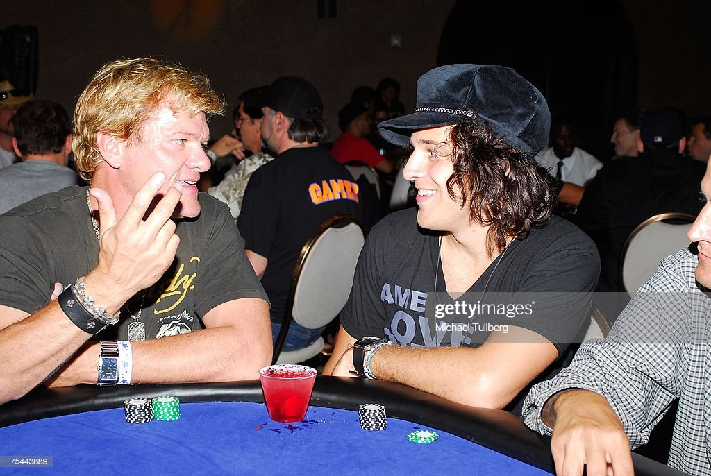 Musician Ryan Cabrera shares a conversation at the poker table at The Clear View Treatment Center's Charity Texas Hold'Em celebrity poker tournament, held at the Roosevelt Hotel on July 16, 2007 in Los Angeles, California.