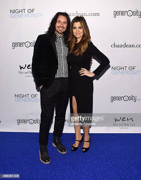 Musician Ryan Edgar and singer Nikki Leonti arrive at the 7th Annual 'Night Of Generosity' Gala at the Beverly Wilshire Four Seasons Hotel on...