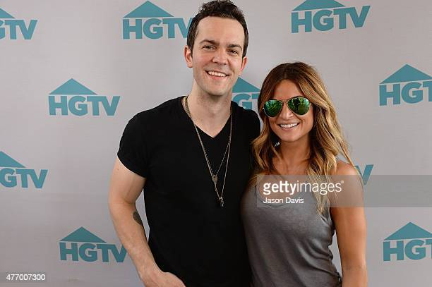 Musician Ryan Kinder and HGTV host Alison Victoria appear at the HGTV Lodge during CMA Music Fest on June 13 2015 in Nashville Tennessee