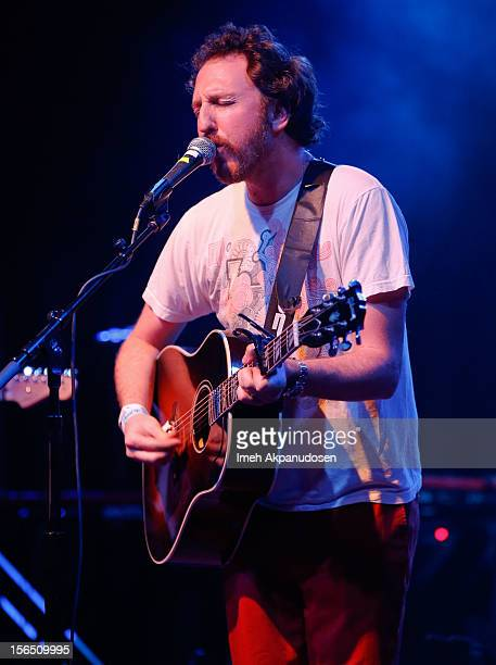 Musician Ryan Miller performs onstage singing 'Wildflowers' at the first ever Jameson Petty Fest West at El Rey Theatre on November 15 2012 in Los...