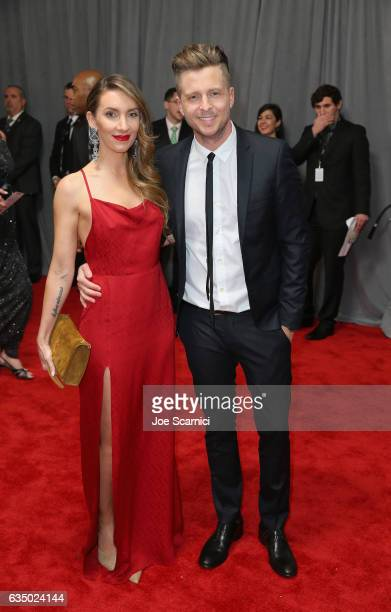Musician Ryan Tedder and Genevieve Tedder at The 59th Annual GRAMMY Awards at STAPLES Center on February 12 2017 in Los Angeles California