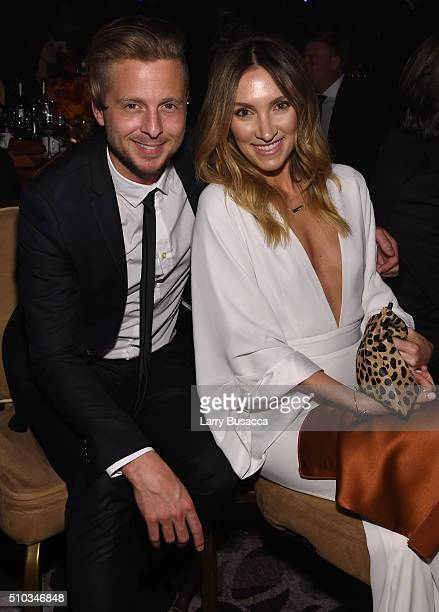 Musician Ryan Tedder and Genevieve Tedder attend the 2016 PreGRAMMY Gala and Salute to Industry Icons honoring Irving Azoff at The Beverly Hilton...