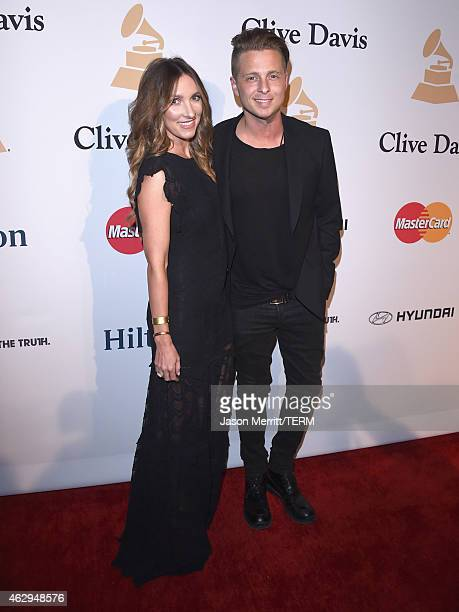 Musician Ryan Tedder and Genevieve Tedder attend the PreGRAMMY Gala and Salute To Industry Icons honoring Martin Bandier at The Beverly Hilton Hotel...